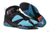 Air Jordan 7 Black Light Blue