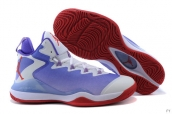 Air Jordan Super-fly 3 X White Purple Red