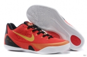 Nike Kobe 9 Low Women Chinese Red Black Golden