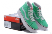 Vans High Women Increased Insole Leather Green White
