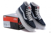 Vans High Women Increased Insole Leather Navy Blue