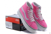 Vans High Women Increased Insole Leather Pink White