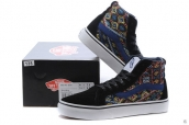 Vans High Women Weave Black Navy Blue