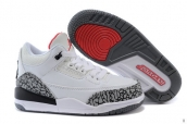 Air Jordan 3 Kids Leopard White Red Black