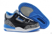 Air Jordan 3 Kids Leopard Black Blue