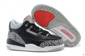 Air Jordan 3 Kids Leopard Black Grey Red