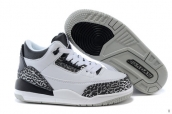 Air Jordan 3 Kids Leopard White Black