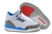 Air Jordan 3 Kids Leopard White Blue