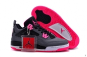 AAA Air Jordan 4 Women Grey Pink Black