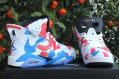 AAA Air Jordan 6 Women White Blue Red 150