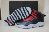 Air Jordan 10 Retro Black Red Grey