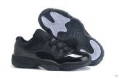 Women Air Jordan 11 Low Black