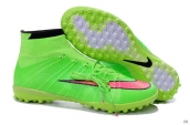 Nike Elastico Superfly TF Boots High Green Red Black