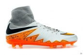 Nike Hypervenom Phelon 2 FG Boots High Silvery Grey Orange Black