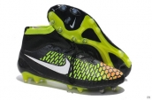 Nike Magista Obra FG With ACC Boots High Black Greeen White