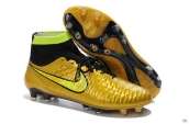 Nike Magista Obra FG With ACC Boots High Golden Black Green