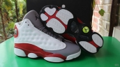 Super Perfect Air Jordan 13 Women White Grey Red