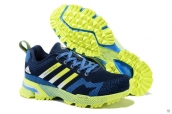 Adidas Marathon Weaving Navy Blue Fluorescent Green