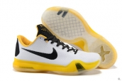 Nike Kobe X White Black Yellow