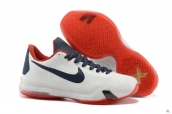 Nike Kobe X White Navy Blue Red
