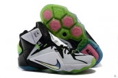 Nike Lebron 12 White Black Green