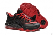 Nike Lebron 12 Low PRM Black Red
