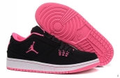 AAA Air Jordan 1 Flight Low Women Black Pink White