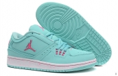 AAA Air Jordan 1 Flight Low Women Light Green Pink