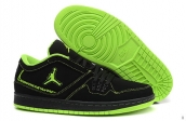 AAA Air Jordan 1 Flight Low Black Fluorescent Green