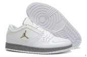 AAA Air Jordan 1 Flight Low White Grey Silvery