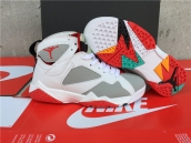 AAA Air Jordan 7 Women White Grey Red Green Orange 110