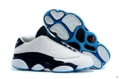 AAA Air Jordan 13 Low All Star White Black Blue 140