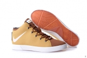 Nike Lebron 12 Casual Shoes Yellow Brown White