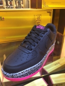 Nike Air Force One Women Black Pink