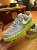 Nike Air Force One Grey Fluorescent Green
