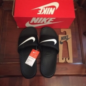 Nike Slippers Women Black White
