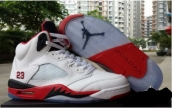 Air Jordan 5 Perfect White Red