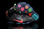 Nike Lebron 12 Kids Black Colorful