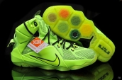 Nike Lebron 12 Kids Fluorescent Green Black