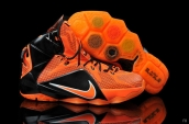 Nike Lebron 12 Kids Orange Black