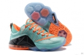 Nike Lebron 12 Low EP Jade Green Orange Black