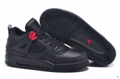 2015 Air Jordan 4 Elephant Print Black Red 110