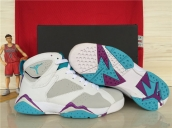 AAA Air Jordan 7 Women White Grey Purple Light Blue