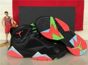 AAA Air Jordan 7 Women Black Red Green