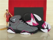 AAA Air Jordan 7 Women Grey Black Pink White