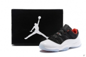 Women Air Jordan 11 Low White Black Red