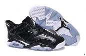 Women AAA Air Jordan 6 Low Black White