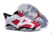 Women AAA Air Jordan 6 Low Red White Black