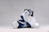 Perfect Air Jordan 7 Women White Blue