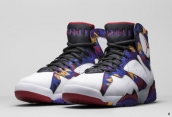 Perfect Air Jordan 7 White Purple Black Red